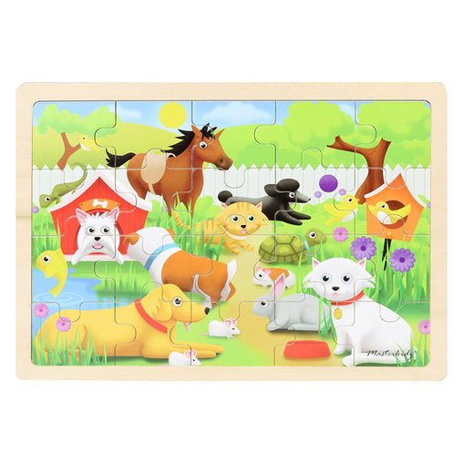Masterkidz Jigsaw Puzzle Pets 20 Pieces Completed