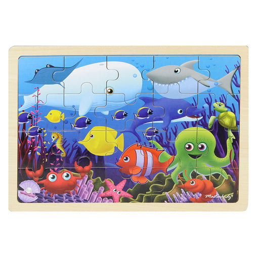 Masterkidz Jigsaw Puzzle Sea Creatures 20 Pieces Completed