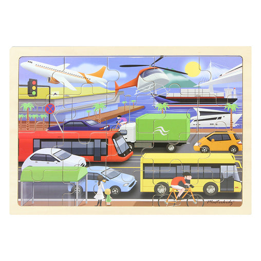 Masterkidz Jigsaw Puzzle Transportation 20 Pieces Completed