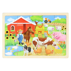 Masterkidz Jigsaw Puzzle Farm 20 Pieces Completed