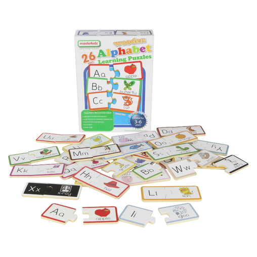 Masterkidz Wooden Learning Puzzles Alphabet Contents