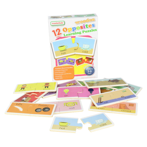 Masterkidz Wooden Learning Puzzles Opposites Contents