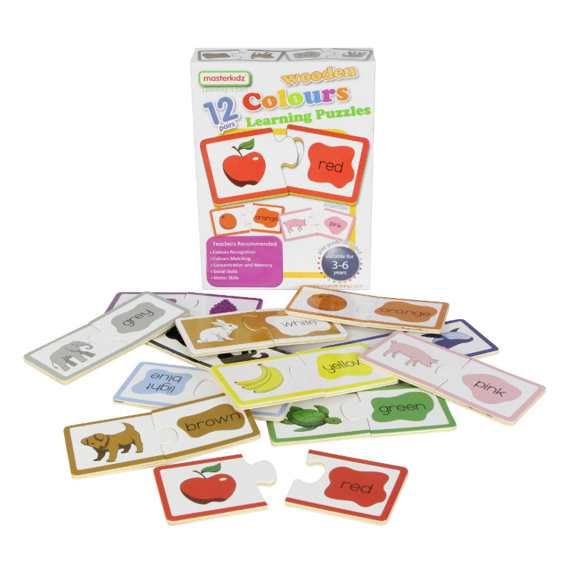 Masterkidz Wooden Learning Puzzles Colours Contents