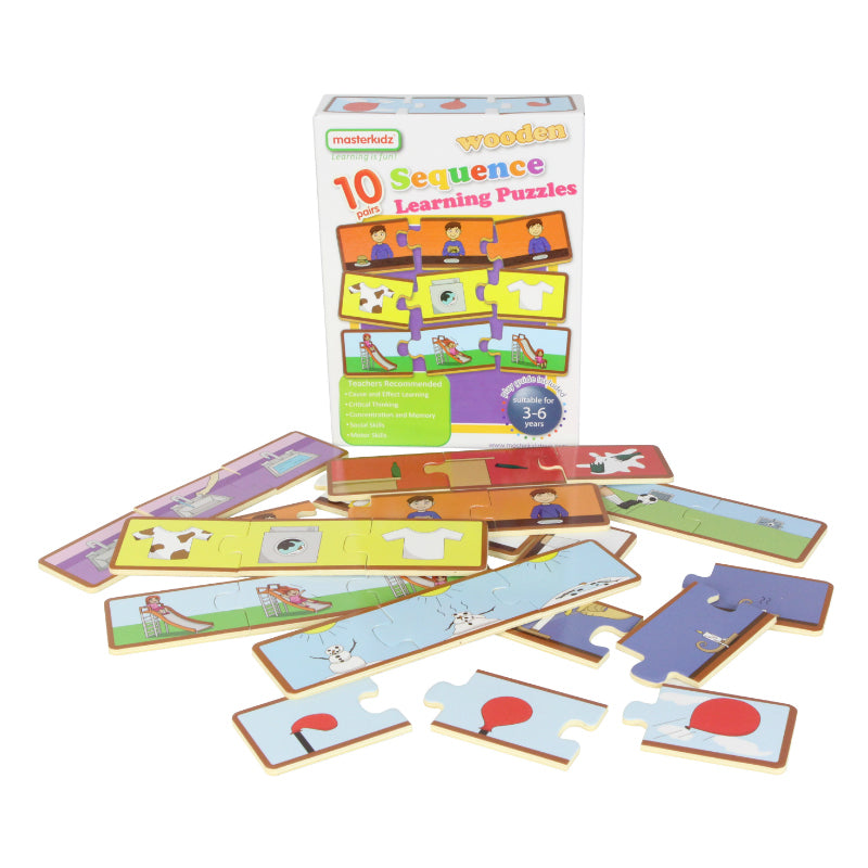 Masterkidz Wooden Learning Puzzles Sequencing Contents
