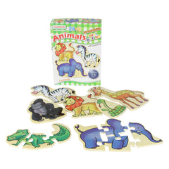 Masterkidz Wooden Mini Puzzles Animals Contents