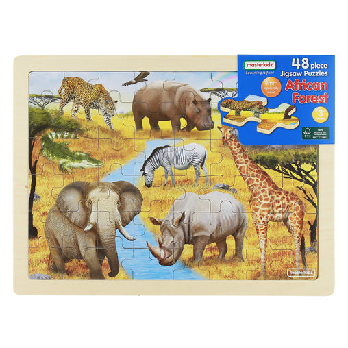 Masterkidz Jigsaw Puzzle African Forest 48 Pieces Packaging