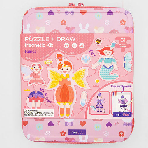 MierEdu Puzzle & Draw Magnetic Kit Fairies Case