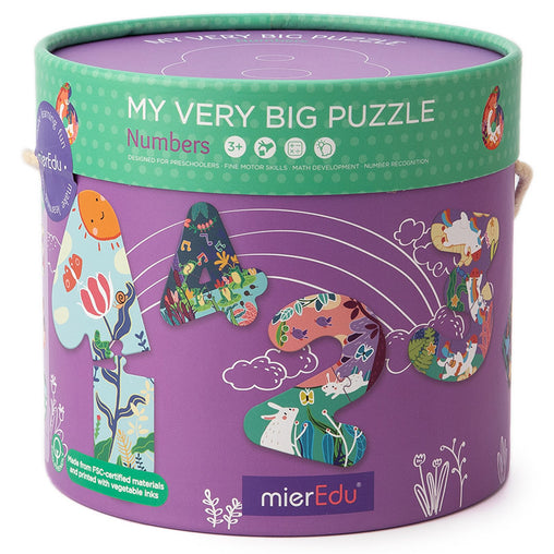 MierEdu My Very Big Puzzle Numbers Box