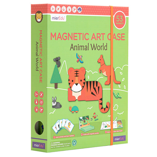 MierEdu Magnetic Art Case Animal World Front Cover