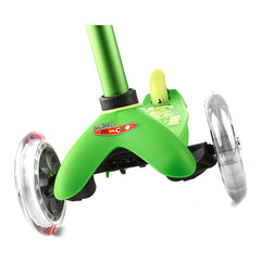 Mini Micro Scooter Deluxe Green Front Wheels