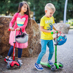 Mini Micro Scooter Deluxe Green Kids Riding