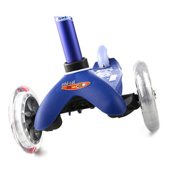 Mini Micro Scooter Deluxe Blue Front Wheels