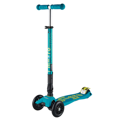 Maxi Micro Deluxe Foldable T-Bar Scooter Petrol Green