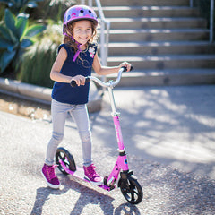 Cruiser Micro Scooter Pink Girl Riding