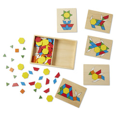 Melissa & Doug Pattern Blocks and Boards Pieces