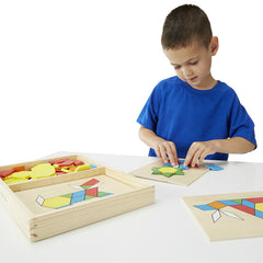 Melissa & Doug Pattern Blocks and Boards Table