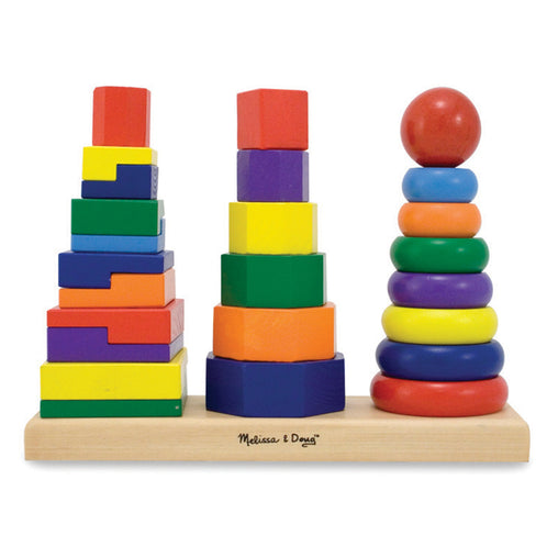 Melissa & Doug Geometric Stacker Wooden Toy