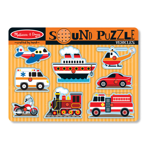 Melissa & Doug Sound Puzzle Vehicles
