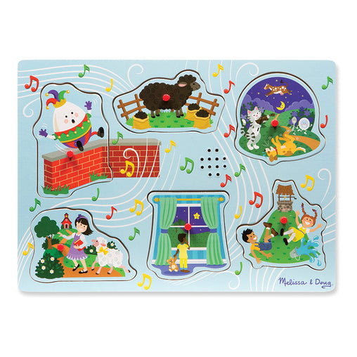 Melissa & Doug Sound Puzzle Sing-Along Nursery Rhymes Blue