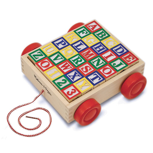 Melissa & Doug ABC Wooden Block Cart