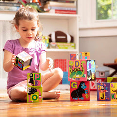 Melissa & Doug Alphabet Nesting & Stacking Blocks Girl PlayingMelissa & Doug Alphabet Nesting & Stacking Blocks 2