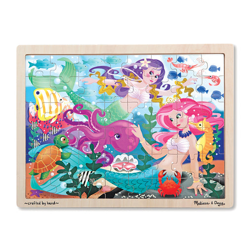 Melissa & Doug Jigsaw Puzzle Mermaid Fantasea 48 Pieces