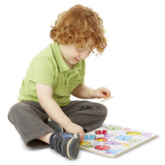 Melissa & Doug Peg Puzzle Shapes Boy