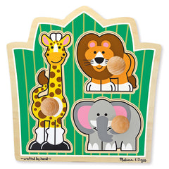 Melissa & Doug Jumbo Jungle Friends Knob 3 Piece