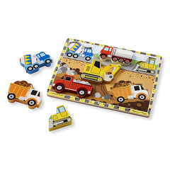 Melissa & Doug Puzzle Chunky Construction Pieces Out