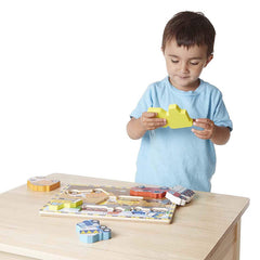 Melissa & Doug Puzzle Chunky Construction Boy