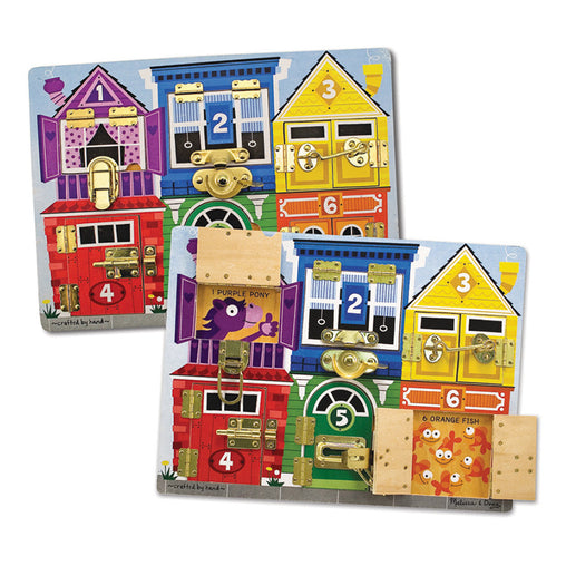 Melissa & Doug Latches Board Wooden