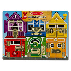 Melissa & Doug Latches Board Wooden Packaging