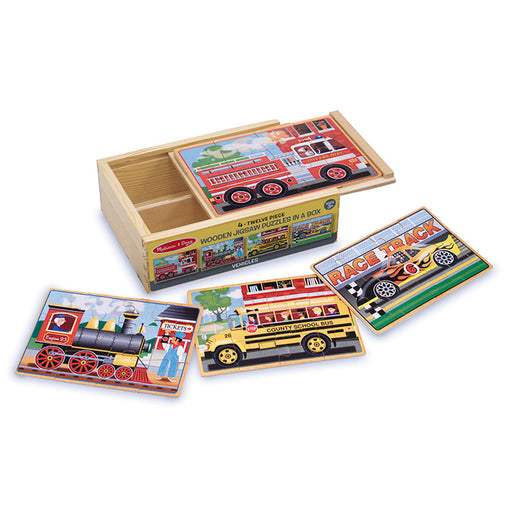 Melissa & Doug Jigsaw Puzzles in a Box Vehicles