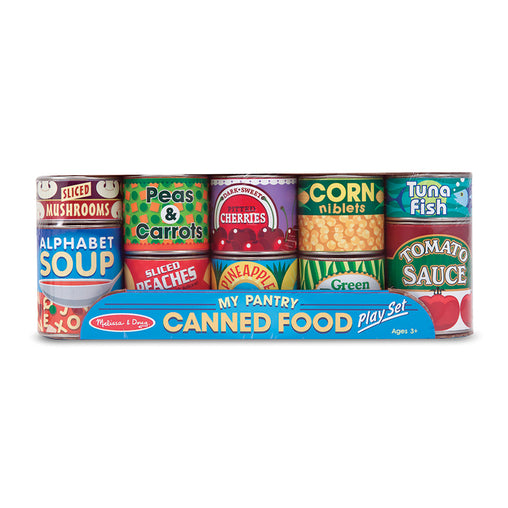 Melissa & Doug Play Food Cans Set of 10