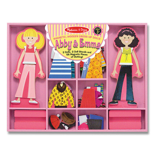 Melissa & Doug Magnetic Dress Up Set Abby and Emma Packaging