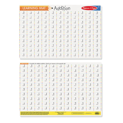 Melissa & Doug Write-a-Mat Maths Addition Problems