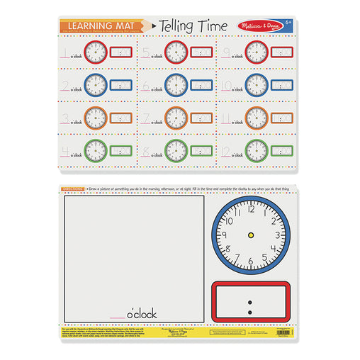 Melissa & Doug Write-a-Mat Telling the Time