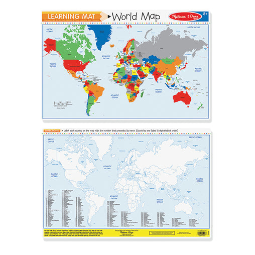 Melissa & Doug Write-a-Mat World Map