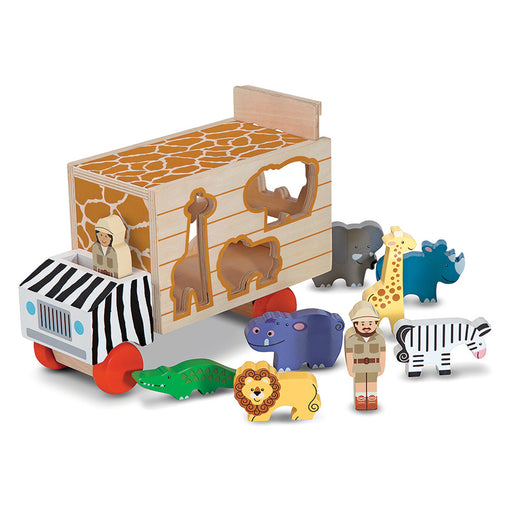 Melissa & Doug Animal Rescue Shape Sorter Truck