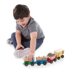 Melissa & Doug Cargo Train Boy Playing