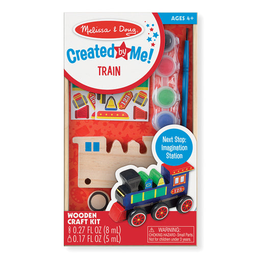 Melissa & Doug Decorate Your Own Train Packaging