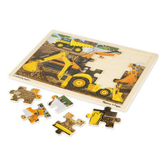 Melissa & Doug Jigsaw Puzzle Diggers at Work 24 Piece Unfinished