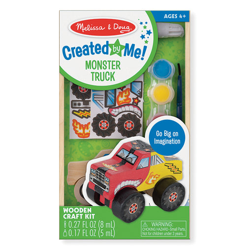 Melissa & Doug Wooden Monster Truck Decorate Your Own Packaging