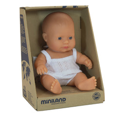 Miniland Doll Caucasian Girl 21cm Packaging