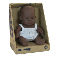 Miniland Doll African Girl 21cm Packaging