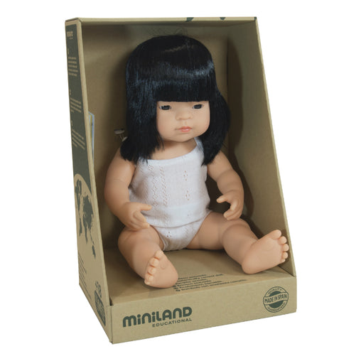Miniland Doll Asian Girl 38cm Packaging