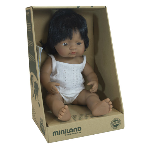 Miniland Doll Latin American Hispanic Girl 38cm
