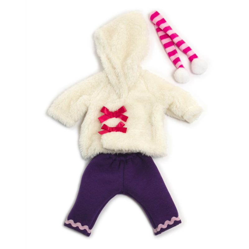 Miniland White Run Winter Clothing Set (32cm Doll)