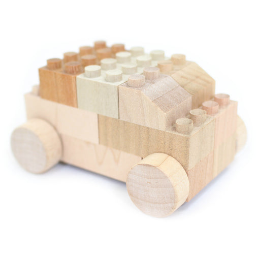 Mokulock BU-BU Wooden Building Bricks Car Set 2