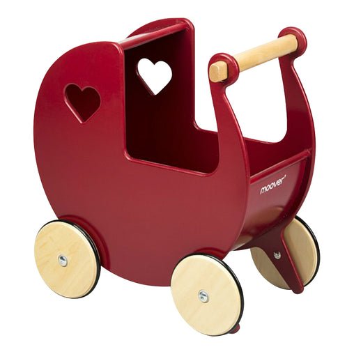 Moover Dolls Pram Solid Red